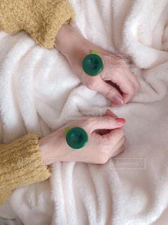 お灸で一息、レンジ灸は便利の写真・画像素材[1681342]