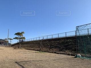 青空の下の公園の写真・画像素材[1722336]