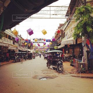 カンボジアの街並み - No.259595