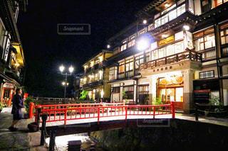 銀山温泉の写真・画像素材[758593]