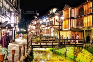銀山温泉の写真・画像素材[758594]