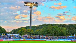 サッカースタジアムの写真・画像素材[811781]