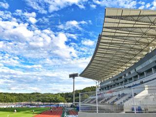 スタジアムの青空の写真・画像素材[811782]