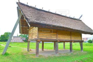 登呂遺跡の竪穴式住居の写真・画像素材[929129]