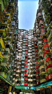 香港のモンスターマンションの写真・画像素材[1487788]