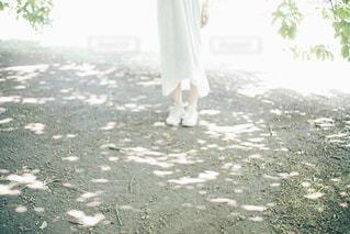 ビーチに立っている人の写真・画像素材[1166097]