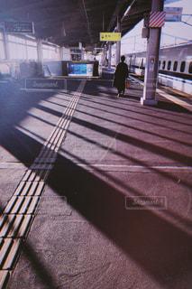 新幹線のホームの写真・画像素材[1778882]