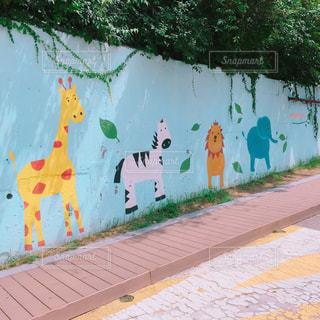 動物の壁画の写真・画像素材[260838]