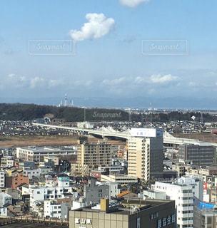 富山市役所展望塔より、富山新港方向の写真・画像素材[1758694]