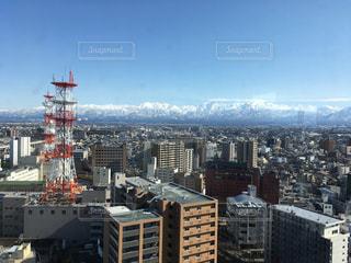 富山市役所展望塔からの立山連峰の写真・画像素材[1758695]