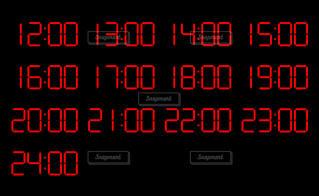 側に取り付けられた大時計の写真・画像素材[1387792]