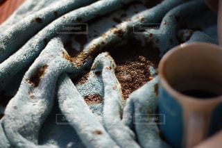 あーーーー!コーヒーこぼした。どうしよの写真・画像素材[1757568]