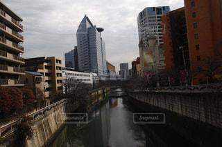 市川に架かる長い橋の写真・画像素材[1759998]