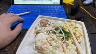 食品のプラスチック容器の写真・画像素材[3518798]