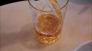 飲み会、晩酌イメージ。手酌クローズアップの写真素材の写真・画像素材[3813619]