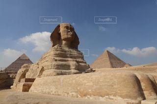 ギザの大スフィンクスとピラミッドの写真・画像素材[1778276]