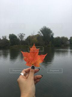 水の体の小さなボートの写真・画像素材[1638711]