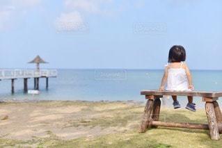 海で黄昏の写真・画像素材[58718]