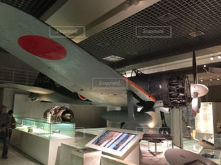 上野の国立科学博物館の零戦の写真・画像素材[1609090]