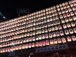 新宿の花園神社の酉の市の提灯の写真・画像素材[1628094]