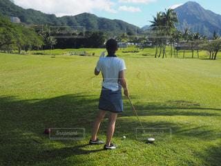ハワイでゴルフの写真・画像素材[1818288]