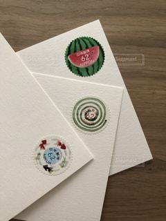 カードのクローズアップの写真・画像素材[2344350]