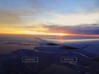 夕日のビューの写真・画像素材[752330]