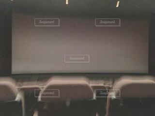 無人の映画館の写真・画像素材[3695667]