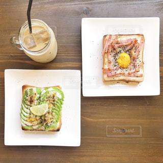 お洒落な朝食の写真・画像素材[756042]
