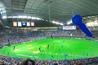 札幌ドームでの野球の試合の写真・画像素材[1217736]