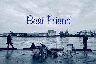 水域のボート親友の写真・画像素材[2851147]