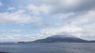 積雪してる桜島(珍しい)の写真・画像素材[957452]