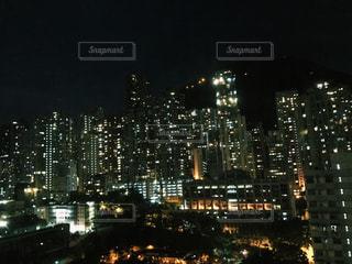香港の夜の写真・画像素材[1000501]