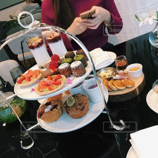 Elle Cafeのグルテンフリー アフタヌーンティーの写真・画像素材[1000537]