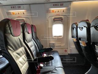 飛行機 非常口座席の写真・画像素材[3042375]