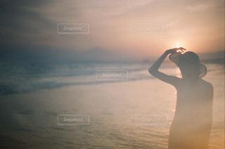 サンセットビーチの写真・画像素材[1594790]