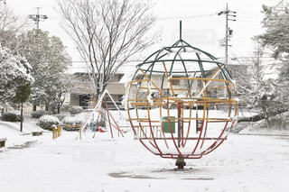 雪と公園の写真・画像素材[334346]