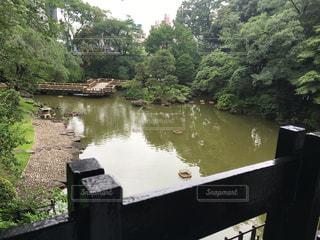 水の体の横にある川のボートの写真・画像素材[729980]