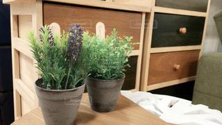テーブルの上の花の花瓶 - No.732635