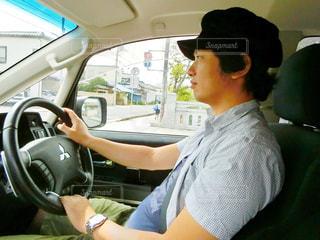 男の車の運転の写真・画像素材[758881]