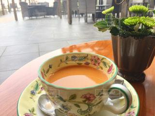 クローズ アップ食べ物の皿とコーヒー カップ - No.946562