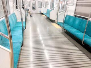 青い電車の写真・画像素材[952245]