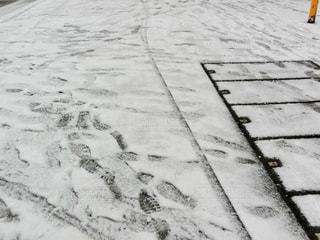 近くに雪の覆われた歩道の写真・画像素材[1136029]