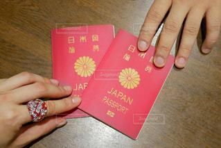 2冊のパスポートの写真・画像素材[1136180]
