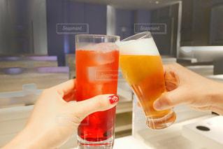 オレンジ ジュースのガラスの写真・画像素材[1148366]