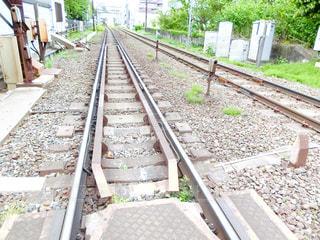鋼のトラックの列車の写真・画像素材[1149069]