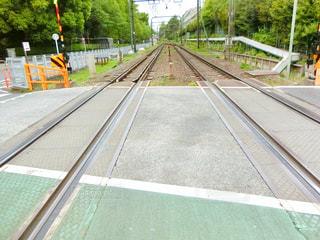 鋼のトラックの列車の写真・画像素材[1149070]
