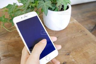 携帯電話を持っている女性の手の写真・画像素材[1245921]