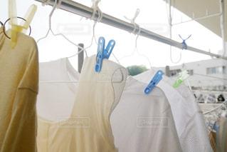 洗濯物を干しているベランダの写真・画像素材[1273117]