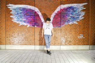 横浜にあるインスタ映えするウォールアートの写真・画像素材[1276889]